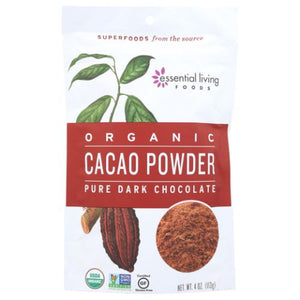 Organic Cacao Powder 4 Oz by Essential Living (4754287525973)