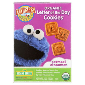 Organic Letter of the Day Cookies Oatmeal Cinnamon 5.3 Oz by Earth's Best  (4754288443477)