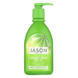 De-Stress Cannabis Sativa Seed Oil Body Wash 30 Oz by Jason Natural Products (4754289098837)