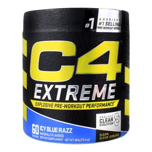 C4 Extreme Icy Blue Raz 60 Each by Cellucor (4754299027541)