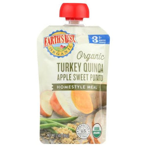 Homestyle Meal Baby Food Stage 3 Oragnic Turkey Quinoa  Apple Sweet Potato 3.5 Oz by Earth's Best  (4754301911125)