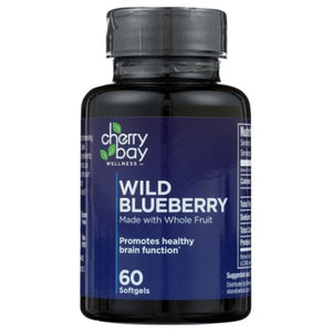 Wild Blueberry 60 Softgels by Cherry Bay Orchards (4754075713621)