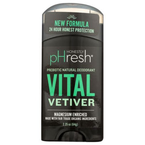 Vital Vetiver Deodorant 2.25 Oz by Honestly pHresh (4754089214037)