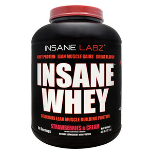 Insane Whey Strawberries & Cream 4.6 lbs by Insane Labz (4754262884437)