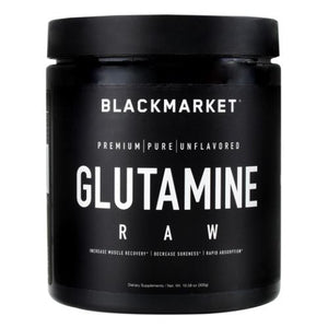 Raw Glutamine Unflavored 300 Grams by Black Market Labs (4754269732949)