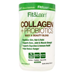 Collagen + Probiotics Unflavored 12.64 Oz by Fit & Lean (4754272419925)