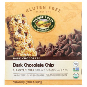 Granola Bar Dark Chocolate Chip 6.2 Oz by Natures Path (4754283790421)