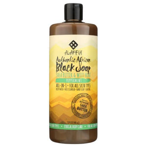 Authentic African Black Soap Peppermint 32 Oz by Alaffia (4754287099989)