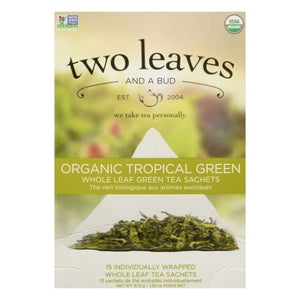 Organic Tropical Green Tea 15 Bags by Two Leaves And A Bud (4754099470421)