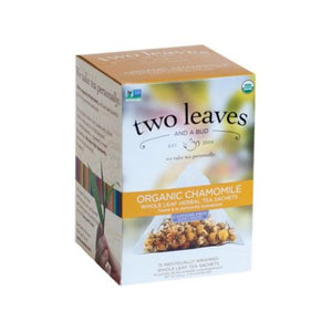 Organic Chamomile Tea 15 Bags by Two Leaves And A Bud (4754099535957)
