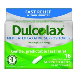 Dulcolax Laxative Suppositories 16 each by Dulcolax (4753945428053)