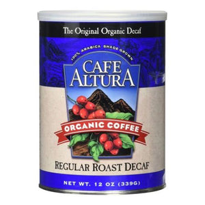 Organic Coffee Regular Roast Decaf 12 Oz by Cafe Altura (4754068471893)