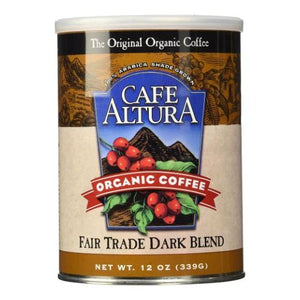 Fair Trade Dark Blend Roasted Ground Coffee 12 Oz by Cafe Altura (4754068766805)