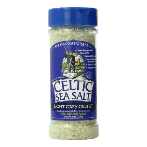Light Grey Coarse Salt Shaker 8 Oz by Celtic Sea Salt
