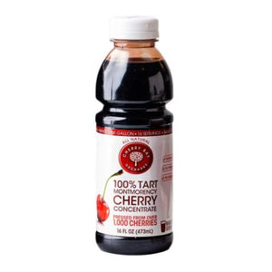 100% Tart Montmorency Cherry Concentrate 16 Oz by Cherry Bay Orchards (4754075484245)