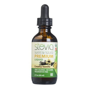 Creamy Vanilla Stevia Liquid 2 Oz by Anumed International (4754079580245)