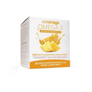 Tropical Orange + D Omega 3 Squeeze 30 Packets by Coromega (4754096062549)
