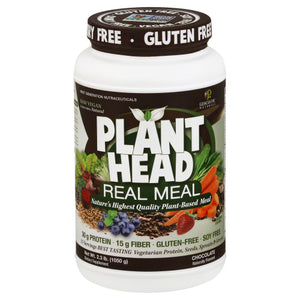 Plant Head Real Meal Chocolate 2.3 lb by Genceutic Naturals (2636304416853)