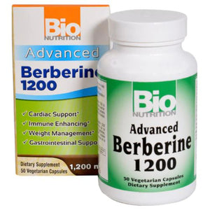 Advanced Berberine 50 Capsules by Bio Nutrition Inc