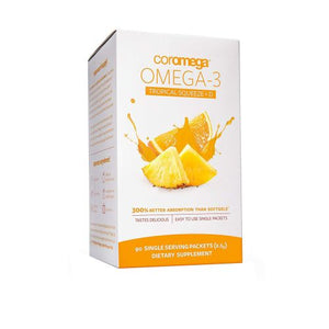 Omega-3 Tropical Squeeze +D Tropical Orange 90 Count by Coromega