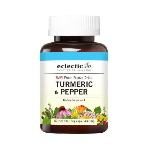 Turmeric & Pepper 50 Caps by Eclectic Institute Inc