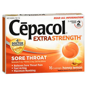 Cepacol Sore Throat Maximum Strength Numbing Lozenges With Honey Lemon honey lemon 16 each by Airborne (4753942839381)