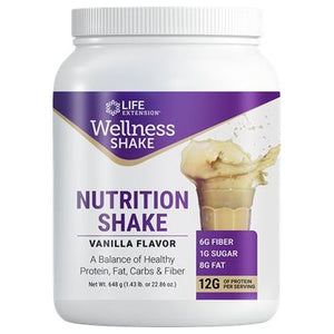 Wellness Shake Vanilla 656 Grams by Life Extension