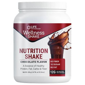 Wellness Shake Chocolate 656 Grams by Life Extension (2636320407637)
