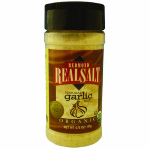Organic Garlic Salt 4.7 Oz by REAL SALT (4754053202005)