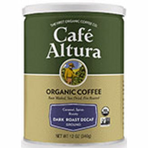 Organic Coffee Dark Roast Decaf 12 Oz by Cafe Altura (4754068504661)