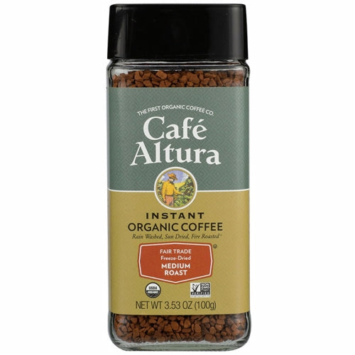 Organic Fair Trade Instant Coffee 3.53 Oz by Cafe Altura