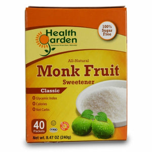 Monk Fruit Classic 40 Packets by Health Garden (4754070896725)