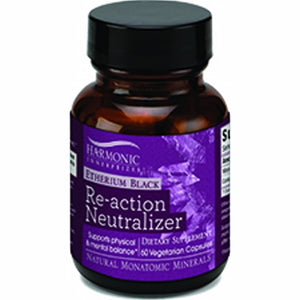 Etherium Black Re-action Neutralizer 60 Veg Caps by Harmonic Innerprizes (formerly Etherium Tech) (4754081677397)