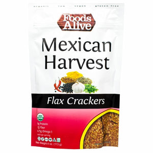 Mexican Harvest Flax Crackers 4 Oz by Foods Alive (4754083741781)