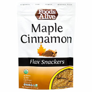 Maple Cinnamon Flax Crackers 4 Oz by Foods Alive (4754083774549)