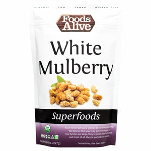 Organic White Mullberry 8 Oz by Foods Alive (4754083971157)