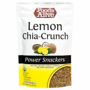 Organic Lemon Chia Power Snack 3 Oz by Foods Alive (4754084724821)