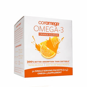 Omega 3 Squeeze Orange 30 Packets by Coromega (4754095931477)