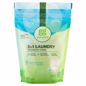 Laundry Detergent Pods Fragrance Free 384 Grams by Grab Green (4754097537109)
