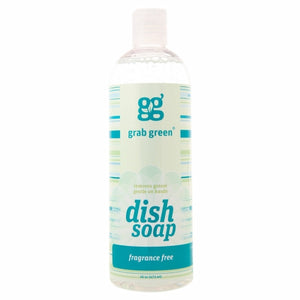 Liquid Dish Soap Fragrance Free 16 Oz by Grab Green (4754097635413)