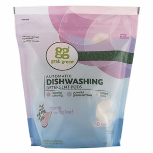 Automatic Dishwashing Detergent Pods Thyme 60 Loads by Grab Green (4754097766485)