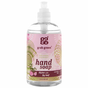 Hand Soap Thyme with Fig Leaf 12 Oz by Grab Green (4754097864789)