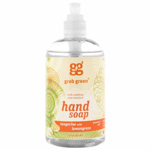 Hand Soap Tangerine with Lemongrass 12 Oz by Grab Green (4754097897557)