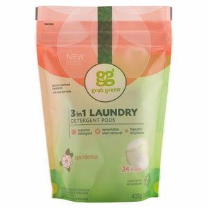 3 in 1 Laundry Gardenia Laundry Pods 384 Grams by Grab Green (4754098618453)
