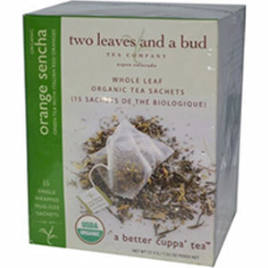 Organic Orange Sencha Green Tea 15 Bags by Two Leaves And A Bud (4754099732565)