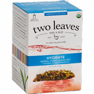 Organic Hydrate Tea 15 Bags by Two Leaves And A Bud (4754099830869)