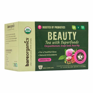 Beauty Tea K-Cups 12 Count by Bare Organics (4754103533653)