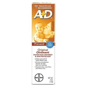 A+D Diaper Rash Ointment & Skin Protectant Original 4 Oz by A+D (4754181619797)