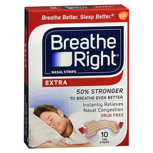 Breathe Right Nasal Strips Extra Tan 8 Each by Breathe Right (4754234572885)