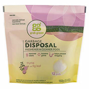 Disposal Freshener and Cleaner 12 Count by Grab Green (4754246795349)